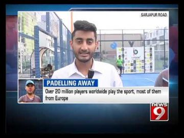 'PADELLING AWAY'- NEWS9
